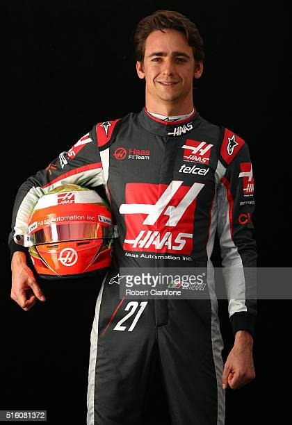 Esteban Gutierrez of Mexico and Haas F1 during previews to the Australian Formula One Grand Prix at Albert Park on March 17, 2016 in Melbourne,...
