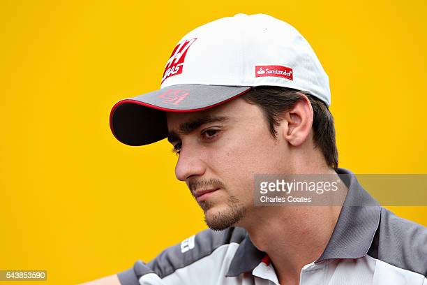 Esteban Gutierrez of Mexico and Haas F1 in the Paddock during previews ahead of the Formula One Grand Prix of Austria at Red Bull Ring on June 30...