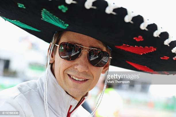 Esteban Gutierrez of Mexico and Haas F1 on the drivers parade before the Formula One Grand Prix of Mexico at Autodromo Hermanos Rodriguez on October...