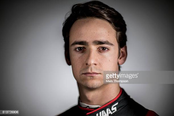 Esteban Gutierrez of Mexico and Haas F1 poses for a portrait during day three of F1 winter testing at Circuit de Catalunya on March 3, 2016 in...