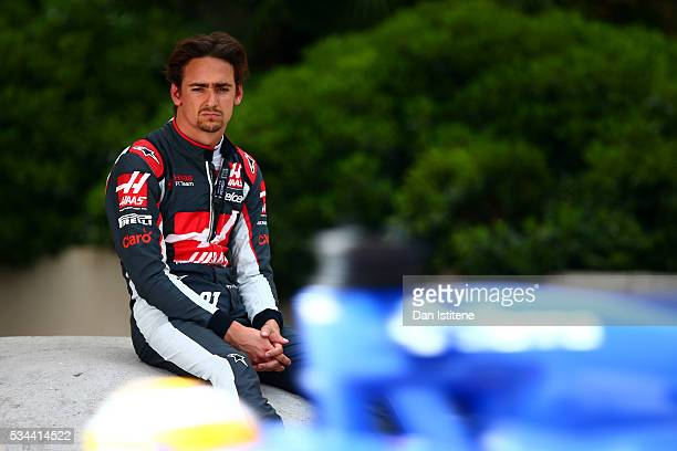 Esteban Gutierrez of Mexico and Haas F1 sits by the side of the circuit during practice for the Monaco Formula One Grand Prix at Circuit de Monaco on...