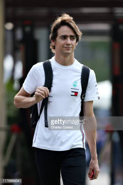 Esteban Gutierrez of Mexico and Mercedes GP walks in the Paddock during previews ahead of the F1 Grand Prix of Singapore at Marina Bay Street Circuit...