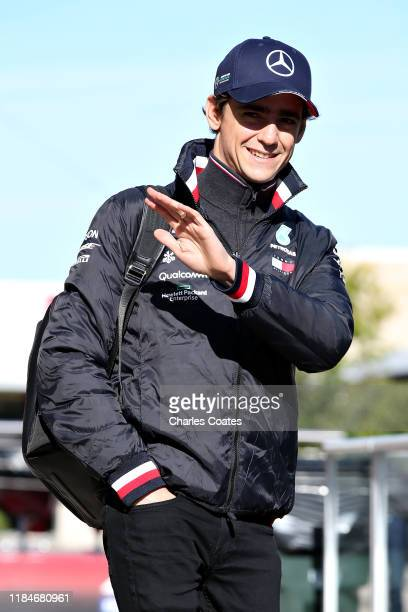 Esteban Gutierrez of Mexico and Mercedes GP walks in the Paddock during previews ahead of the F1 Grand Prix of USA at Circuit of The Americas on...