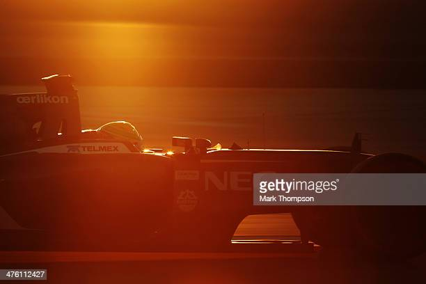 Esteban Gutierrez of Mexico and Sauber F1 drives during day four of Formula One Winter Testing at the Bahrain International Circuit on March 2, 2014...