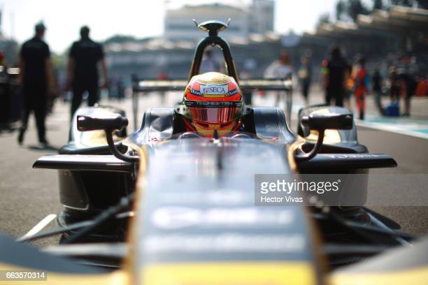 Esteban Gutierrez of Mexico and Techeetah Team competes during the 2017 FIA Formula E Mexico City ePrix at Hermanos Rodriguez Race Track on April 01,...