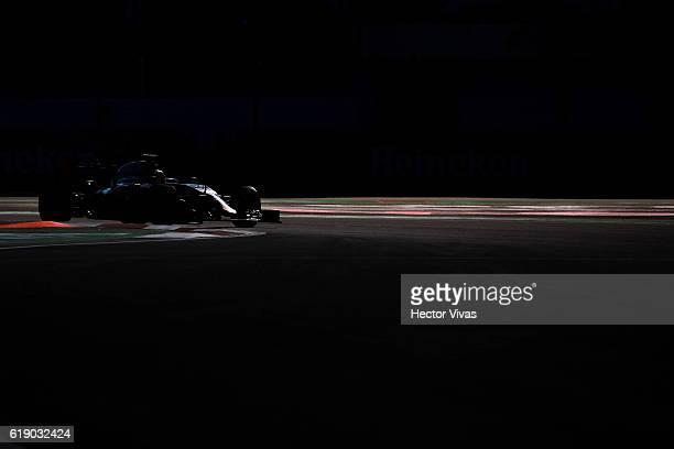 Esteban Gutierrez of Mexico driving the Haas F1 Team HaasFerrari VF16 Ferrari 059/5 turbo on trackduring final practice for the Formula One Grand...
