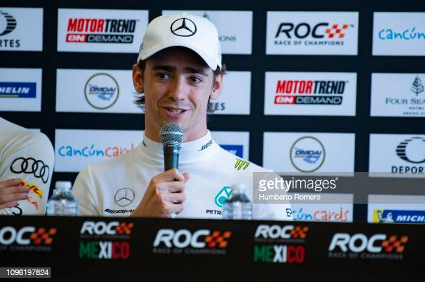 Esteban Gutiérrez of Mexico speaks during the Press Conference of the Race of Champions on Day 1 at Autodromo Hermanos Rodriguez on January 18 2019...
