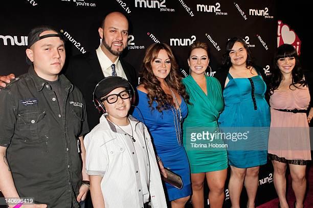 Esteban Loaiza Jenni Rivera Johnny Lopez Janney 'Chiquis' Marin Jenicka Lopez and Jacqui Marin attends the premiere of mun2's 'I Love Jenni' Season 2...