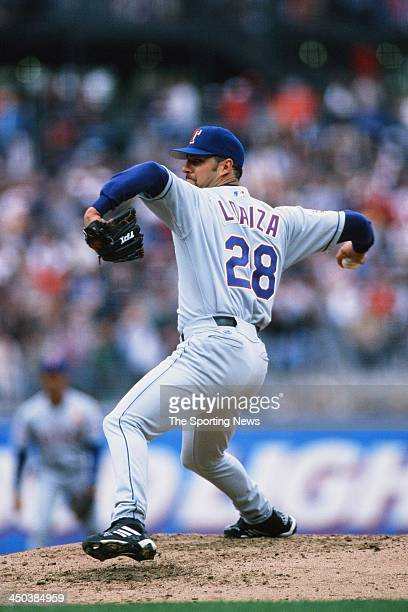 Esteban Loaiza of the Texas Rangers pitches against the San Francisco Giants at Pacific Bell Park on July 16 2000 in San Francisco California