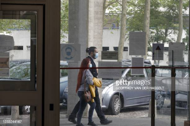 Esteban Morillo , one of the ultra-right wing activists involved in the death of Clement Meric, walks outside at Evry's courthouse, outskirts of...