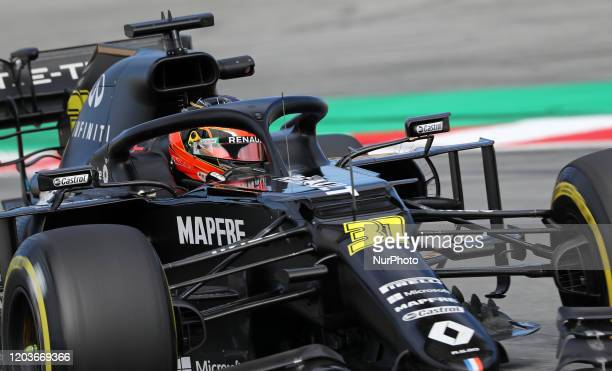 Esteban Ocon and the Renault RS 20 during the day 5 of the formula 1 testing on 27 February 2020 in Barcelona Spain