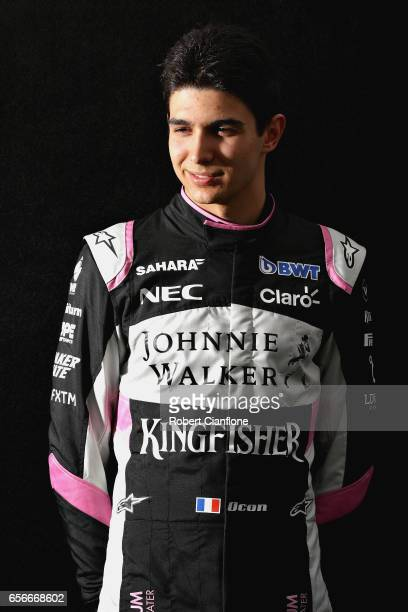 Esteban Ocon of France and Force India poses for a portrait during previews to the Australian Formula One Grand Prix at Albert Park on March 23 2017...