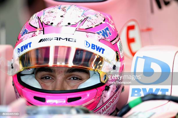 Esteban Ocon of France and Force India prepares to drive during practice for the European Formula One Grand Prix at Baku City Circuit on June 23 2017...