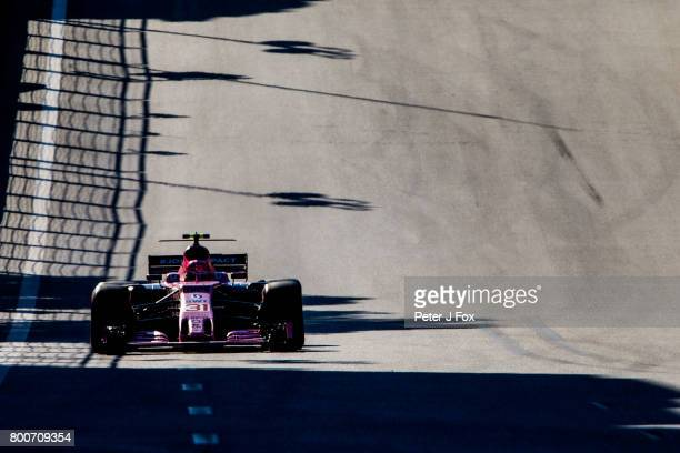 Esteban Ocon of France and Sahara Force India during the Azerbaijan Formula One Grand Prix at Baku City Circuit on June 25 2017 in Baku Azerbaijan