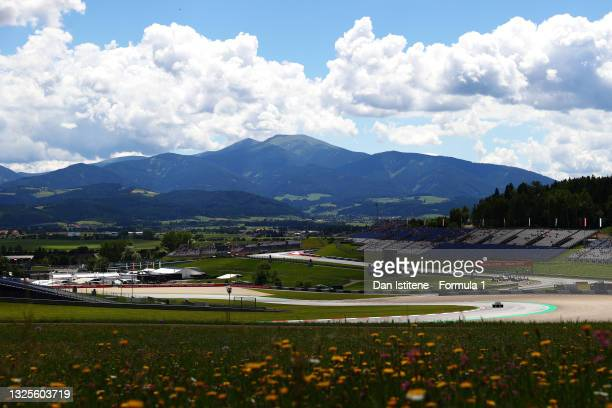 Esteban Ocon of France driving the Alpine A521 Renault during final practice ahead of the F1 Grand Prix of Styria at Red Bull Ring on June 26, 2021...