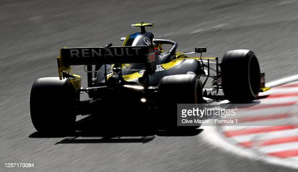 Esteban Ocon of France driving the Renault Sport Formula One Team RS20 on track during the Formula One Grand Prix of Hungary at Hungaroring on July...