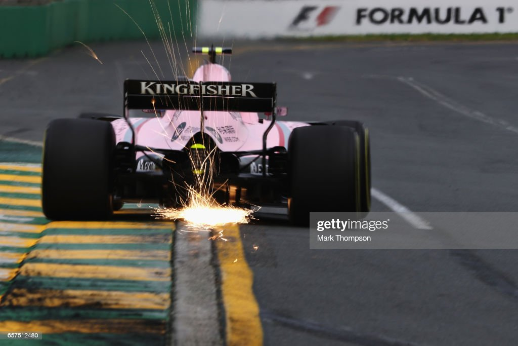 Esteban Ocon of France driving the (31) Sahara Force India F1 Team VJM10 on track during practice for the Australian Formula One Grand Prix at Albert Park on March 24, 2017 in Melbourne, Australia.