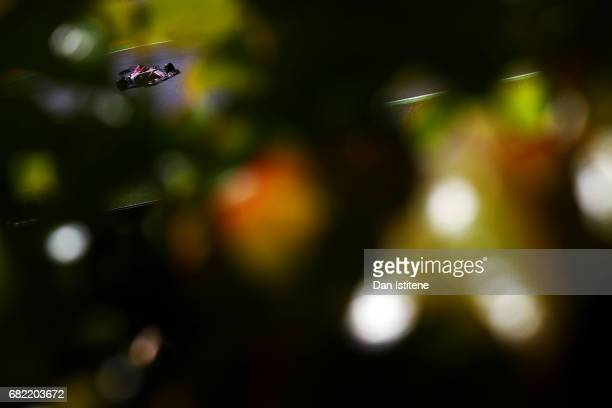 Esteban Ocon of France driving the Sahara Force India F1 Team VJM10 on track during practice for the Spanish Formula One Grand Prix at Circuit de...
