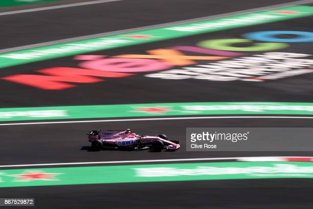 Esteban Ocon of France driving the Sahara Force India F1 Team VJM10 on track during qualifying for the Formula One Grand Prix of Mexico at Autodromo...