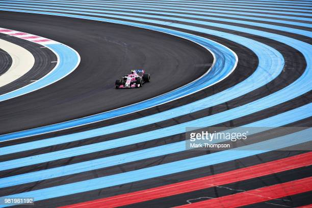 Esteban Ocon of France driving the Sahara Force India F1 Team VJM11 Mercedes on track during final practice for the Formula One Grand Prix of France...