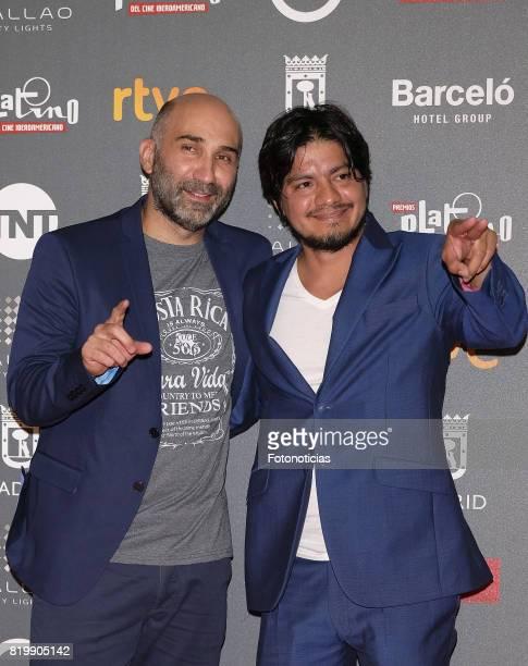 Esteban Ramirez and Leynar Gomez attend the 2017 Platino Awards Welcome Party at Callao Cinema on July 20, 2017 in Madrid, Spain. Esteban Ramirez
