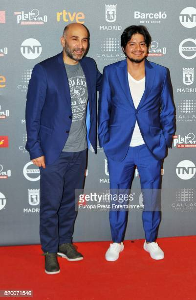 Esteban Ramirez and Leynar Gomez attend the Platino Awards 2017 welcome Party on July 20, 2017 in Madrid, Spain.