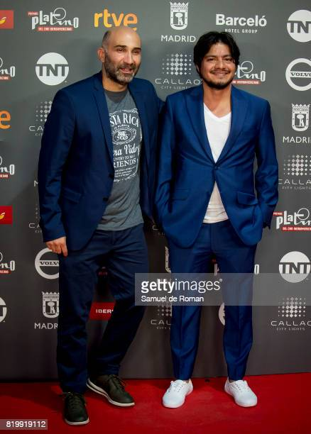 Esteban Ramirez andLeynar Gomez attend the Platino Awards 2017 - Welcome Party on July 20, 2017 in Madrid, Spain.