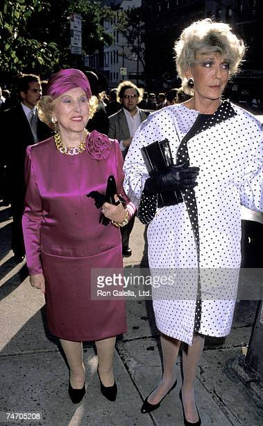 Estee Lauder and Pat Buckley at the St Vincent Ferrer Church in New York City New York