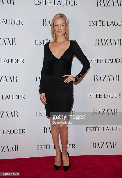 Estee Lauder spokesmodel Carolyn Murphy attends Harper's Bazaar And Estee Lauder Fabulous At Every Age Celebration at Hearst Tower on May 2 2012 in...