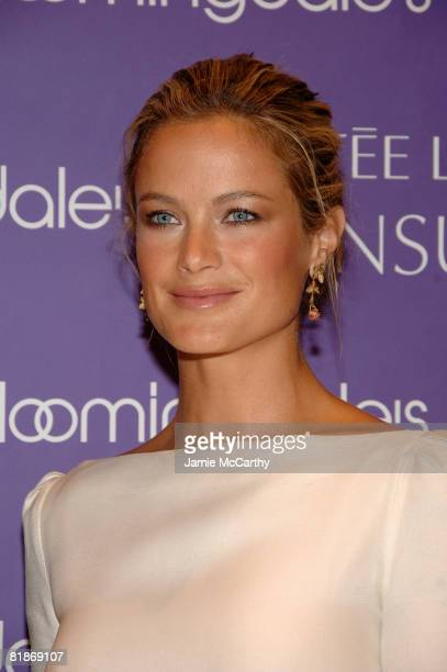 Estee Lauder spokesmodel Carolyn Murphy attends the launch of Estee Lauder's newest fragrance Sensuous at Bloomingdale's 59th Street on July 8 2008...