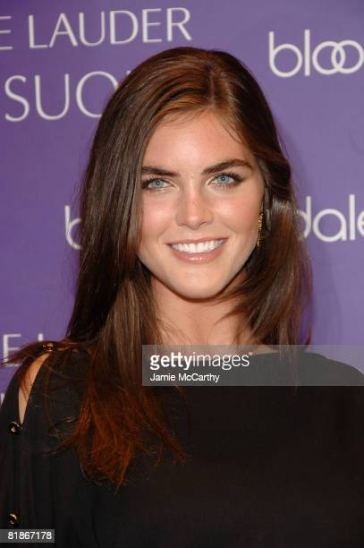 Estee Lauder spokesmodel Hilary Rhoda attends the launch of Estee Lauder's newest fragrance Sensuous at Bloomingdale's 59th Street on July 8 2008 in...