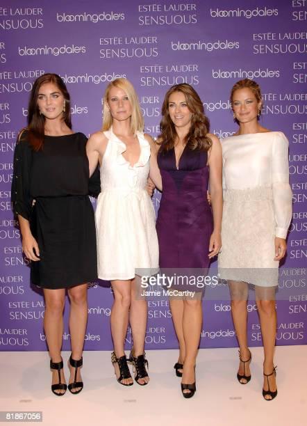 Estee Lauder spokesmodels Hilary Rhoda, Gwyneth Paltrow, Elizabeth Hurley and Carolyn Murphy attend the launch of Estee Lauder's newest fragrance,...
