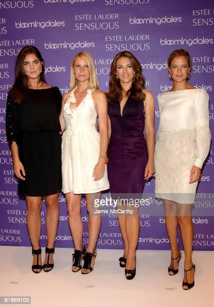 Estee Lauder spokesmodels Hilary Rhoda Gwyneth Paltrow Elizabeth Hurley and Carolyn Murphy attend the launch of Estee Lauder's newest fragrance...