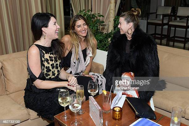 Estee Stanley and Ellen Pompeo attend Gilt And Celebrate The Launch Of Jennifer Meyer xo Jessica Alba at Sunset Tower Hotel on February 3 2015 in...