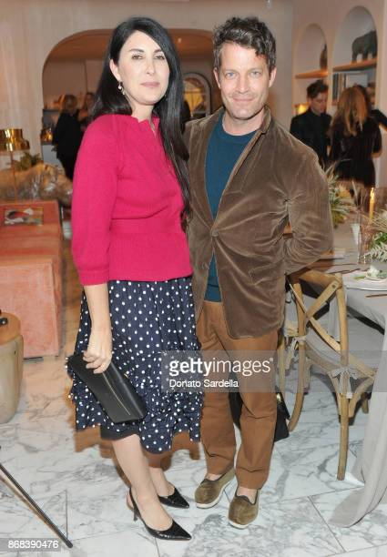 Estee Stanley and Nate Berkus attend Chairish x Athena Calderone Cook Beautiful LA Dinner at Irene Neuwirth Boutique on October 30 2017 in West...