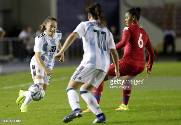 Estefania Banini of Argentina during a second leg match between Argentina and Panama as part of Women's World Cup Qualifier Play Off on November 13...