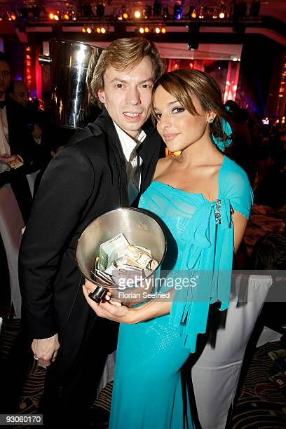 Estefania Kuester and balett dancer Vladimir Malakhov attend the Unesco Charity Gala 2009 at the Maritim Hotel on November 14, 2009 in Dusseldorf,...
