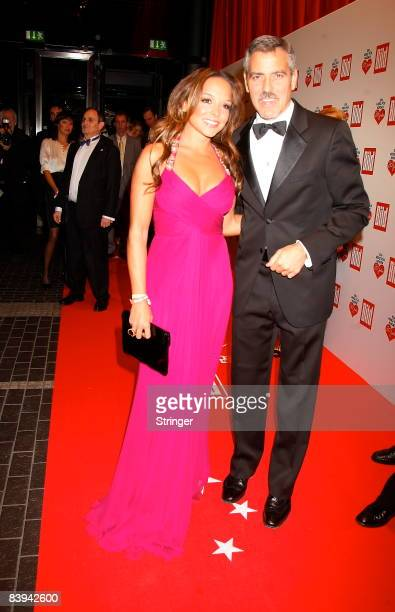 Estefania Kuester and George Clooney attend the Ein Herz fuer Kinder Gala on December 6 2008 in Berlin Germany