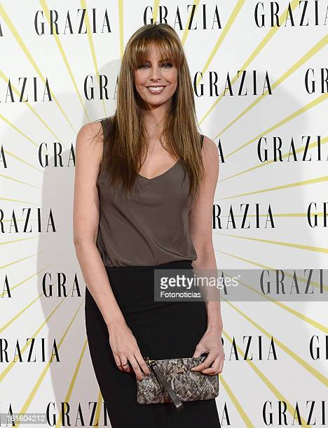 Estefania Luyck attends Grazia Magazine launch party at the Circo Prize Theater on February 12 2013 in Madrid Spain