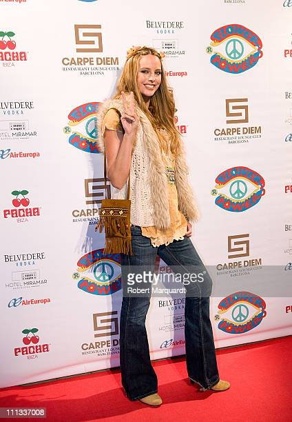 Estefania Luyck attends the 'Flower Power Pacha Ibiza Party' at the Carpe Diem Barcelona Lounge on March 31 2011 in Barcelona Spain