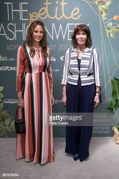 Estefania Luyk and her mother Paquita Torres attend the Petite Fashion Week fashion show on April 26 2018 in Madrid Spain