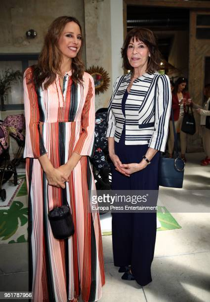 Estefania Luyk and her mother Paquita Torres attend the Petite Fashion Week Spring/Summer fashion show 2018 on April 26 2018 in Madrid Spain