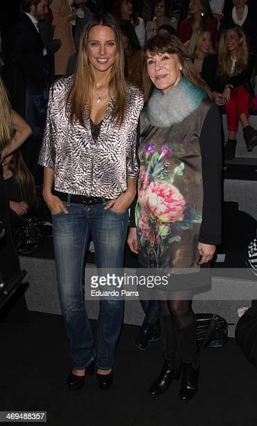 Estefania Luyk and Paquita Torres attend Mercedes Benz Fashion Week Madrid W/F 2014 at Ifema on February 15 2014 in Madrid Spain