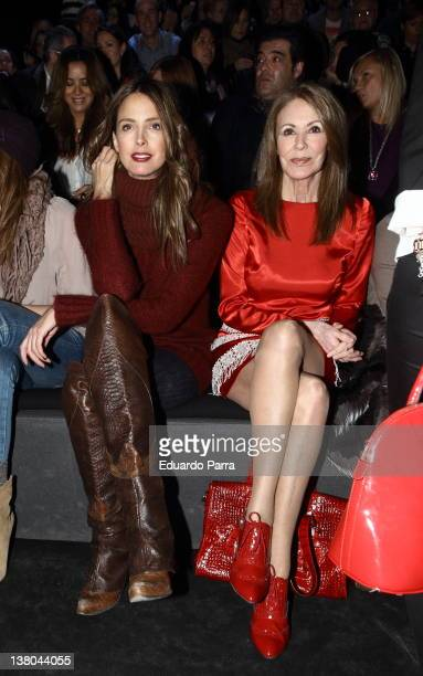 Estefania Luyk and Paquita Torres attend the Francis Montesinos show during MercedesBenz Fashion Week Madrid A/W 2012 at Ifema on February 1 2012 in...