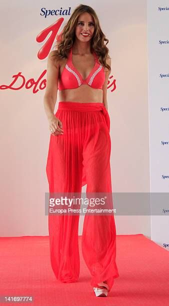 Estefania Luyk attends Quierete collection by Dolores Cortes on March 21 2012 in Madrid Spain