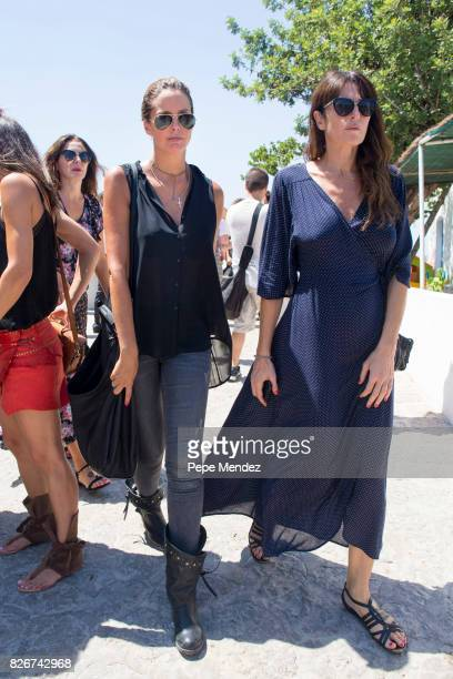 Estefania Luyk attends the Mass Funeral for Angel Nieto at Parroquia de Santa Eularia on August 5 2017 in Ibiza Spain