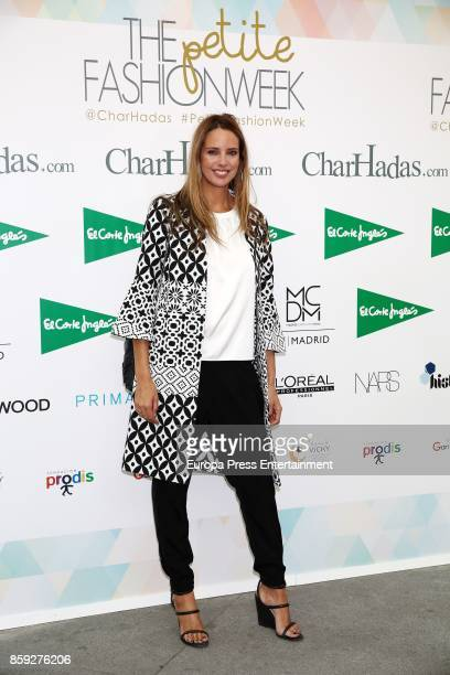 Estefania Luyk attends 'The Petite Fashion Week' Photocall at Cibeles Palace on October 6 2017 in Madrid Spain