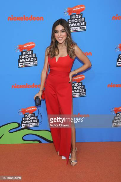 Estefania Ornelas attends the Nickelodeon Kids' Choice Awards Mexico 2018 at Auditorio Nacional on August 19 2018 in Mexico City Mexico