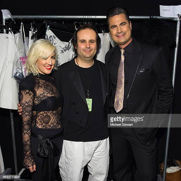 Estel Day, Mark Tango and Rocco Leo Gaglioti attend the Mark And Estel show during Mercedes-Benz Fashion Week Fall 2015 at The Salon at Lincoln...