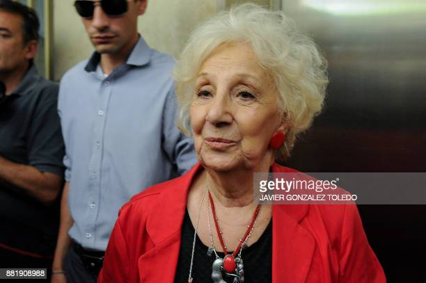 Estela de Carlotto President of Grandmothers of Plaza de Mayo is pictured before the sentencing hearing for crimes against humanity committed during...